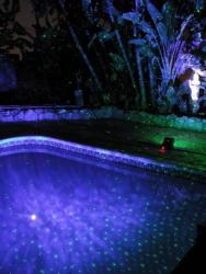 Blisslights on swimming pool