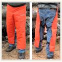 Orange and Green chainsaw Chaps from Forester